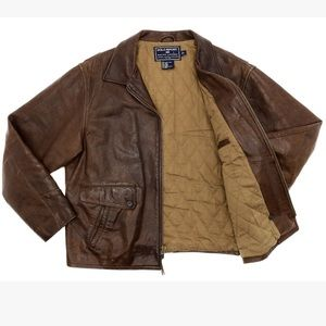 Brown leather Ralph Lauren jacket